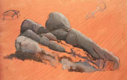Alkyd Pro Study of Rocks by Casa Participant Deb Kutch