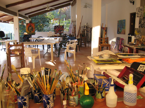 The Casa studio facing North and open on three sides