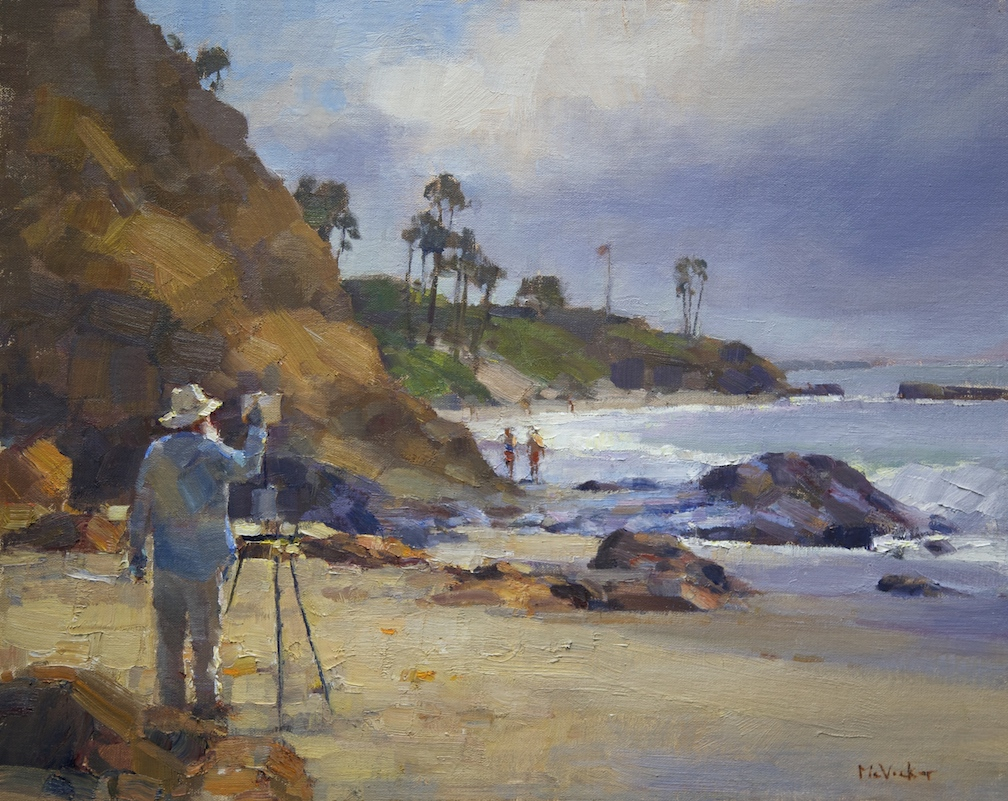 Bob Francis paints Divers Cove, 16x20,oil on linen panel