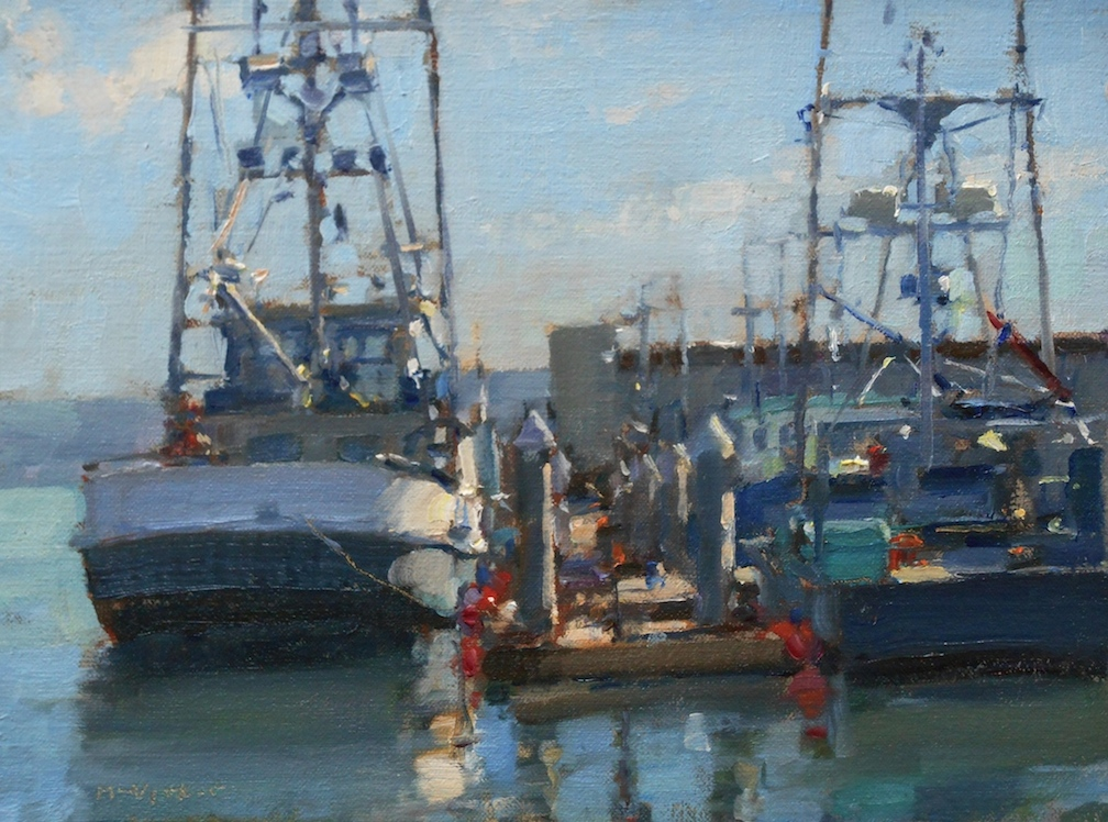 Fishing Boats 24 sept.9x12oil on panel